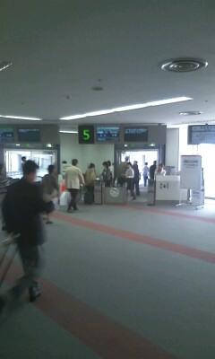 【松山空港到着】